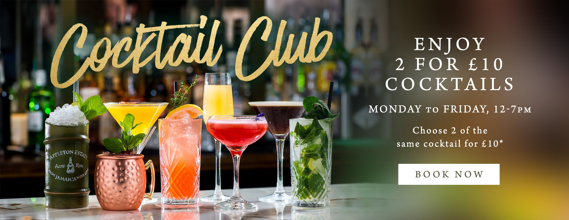 2 for £10 cocktails at The George & Dragon